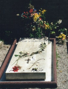 The grave of Igor Stravinsky in San Michele