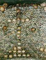Cross of Skulls in the Paris Municipal Ossuary.
