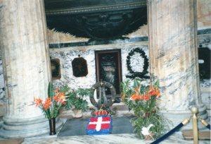 The grave of Victor Emmanuel