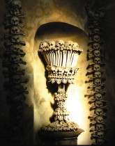 My photo of the bone chalice in Kutna Hora.