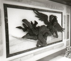 Jacob wrestles the angel at Hillside Memorial Park, Culver City, California. Photo by Loren Rhoads