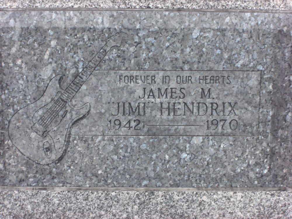 Cemetery of the Week #49:  The Jimi Hendrix Monument (2/3)