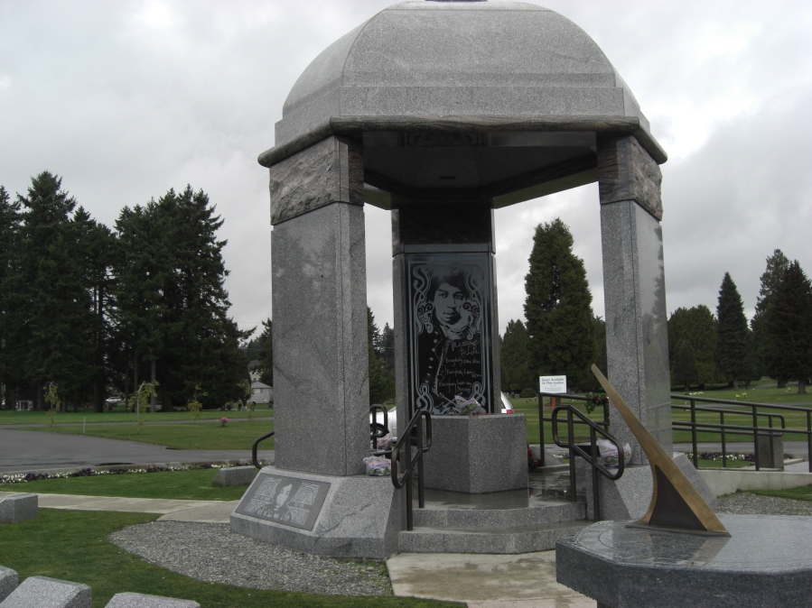 Jimi Hendrix monument, Greenwood Memorial Park, Renton, Washington