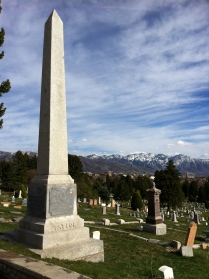 The grave of John Taylor, the Living Martyr, in Salt Lake City Cemetery, Utah
