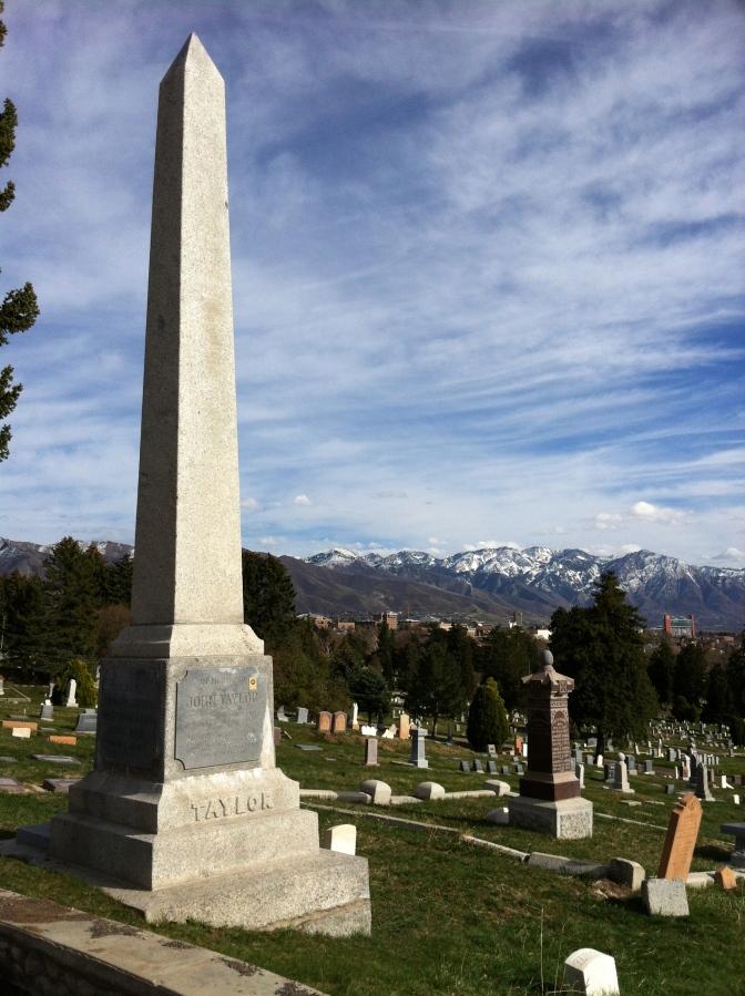 The grave of John Taylor, the Living Martyr, in Salt Lake City Cemetery, Utah