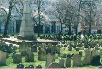 The Granary Burying Ground in springtime, Boston, Massachusetts