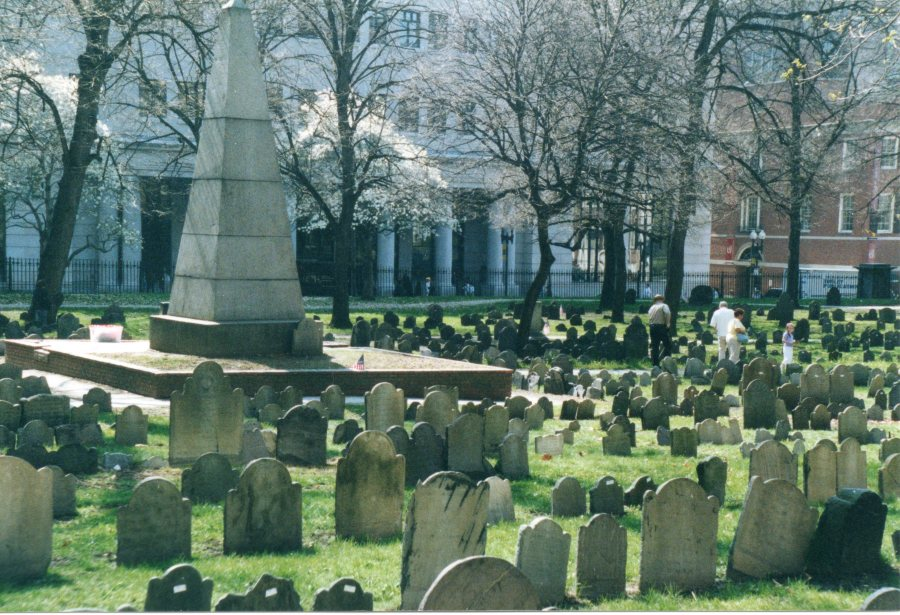 The Granary Burying Ground in springtime, Boston, Massachusetts