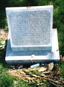 H. P. Lovecraft's tombstone