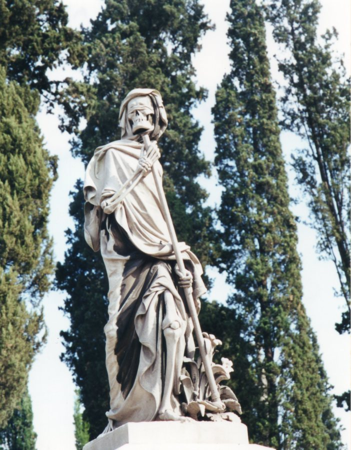 The Grim Reaper, English Cemetery, Florence, Italy