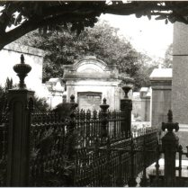 Iron urns on fenceposts, Lafayette Cemetery, New Orleans