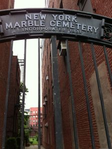 The entrance to the New York Marble Cemetery