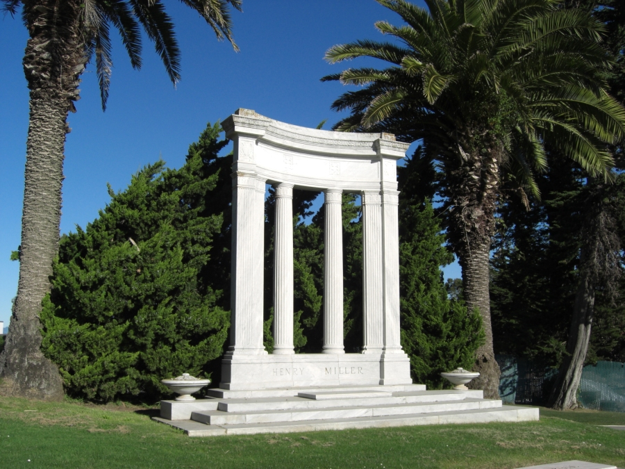 The Miller monument at Woodlawn Cemetery, Colma, California. Photo by Loren Rhoads.