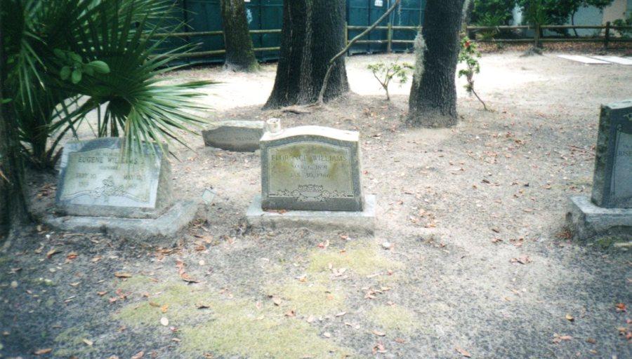 Modern granite gravestones amongst the historic graves.  Photograph by Kathleen Rhoads.