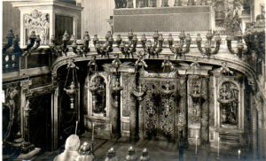 "The ""confessio"" below the altar, above St. Peter's grave."
