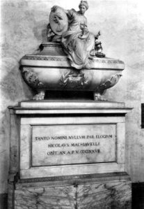 Vintage postcard of Machiavelli's tomb.