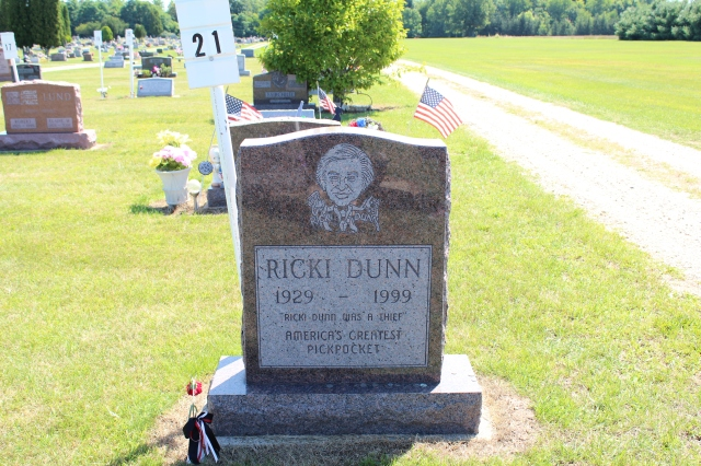 The grave of Ricky Dunn