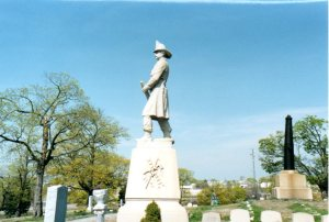 Fireman monument, North Burial Ground, Rhode Island