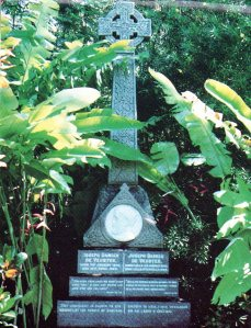 Photo of Father Damien's grave taken from Kalaupapa and the Legacy of Father Damien