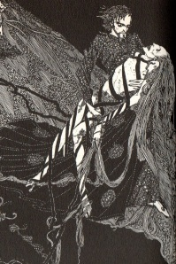 "Harry Clarke's illustration for ""Bereneice"" from the 1919 edition of Tales of Mystery and Imagination"