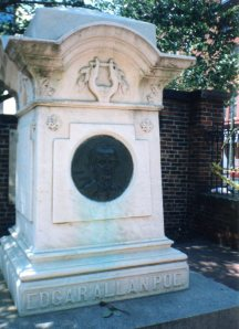 Poe's monument, as photographed by R. Samuel Klatchko
