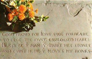 Shakespeare's epitaph