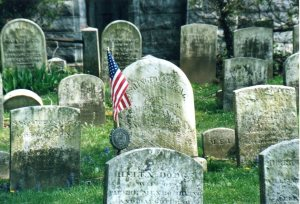 Washington Irving's grave in Sleepy Hollow Cemetery
