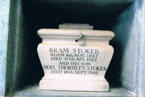 Bram Stoker's urn at Golder's Green Columbarium. Photo by Carole Tyrrell.