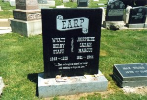 Wyatt Earp's current headstone