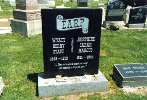 Wyatt Earp's current headstone