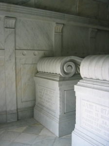 Jane and Leland Sr.'s sarcophagi