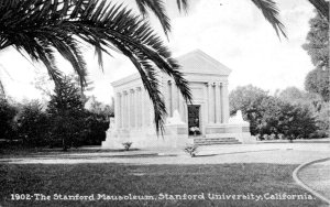 Vintage postcard of the Stanford Family Mausoleum