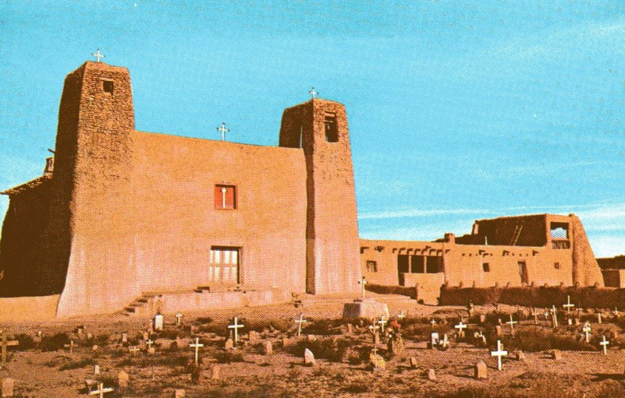 The churchyard of San Esteban del Rey, Acoma Pueblo