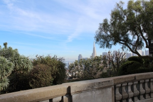 View from the crest of Russian Hill