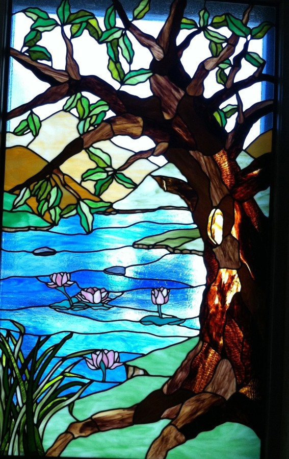 New window at the Neptune Society Columbarium