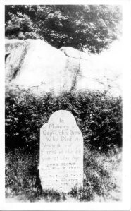 Captain john Brown's Revolutionary-era gravestone