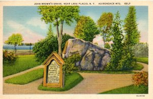 Vintage postcard of john Browns's gravesite