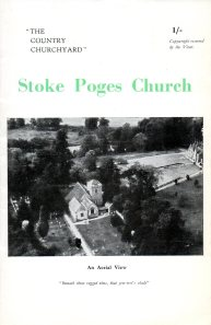 "Souvenir booklet published in 1948: ""copyright reserved by the Vicar."" The aerial view of the church shows the manor up toward the right corner."