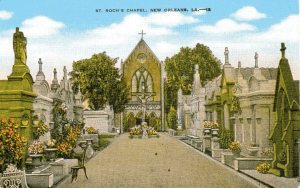 Vintage postcard of St. Roch Cemetery