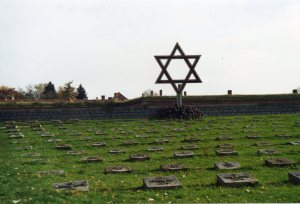 The Star of David over the graveyard at Terezin.