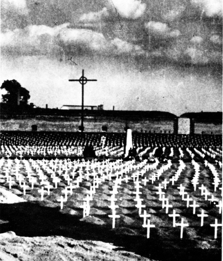 After the war, all the graves were marked with little wooden crosses.
