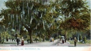 Promenading at Bonaventure. Vintage postcard with undivided back, pre-1907.