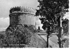 Vintage postcard of the tomb of Cecilia Metella