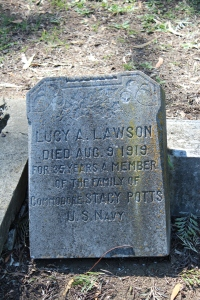 Lucy Lawson's headstone