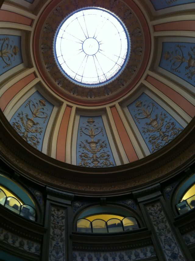The oculus in the dome of the San Francisco Columbarium