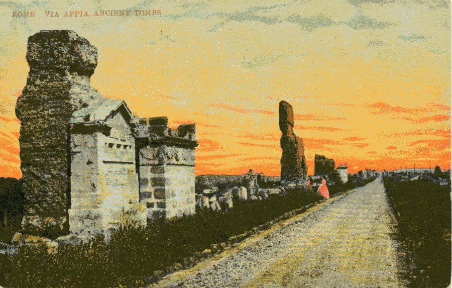 Via Appia sunset001