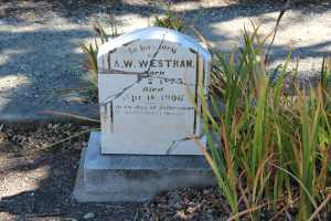 Victim of the 1906 earthquake. Stone repaired by the Historic Association.