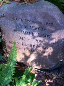 Boulder in memory of William Xenos