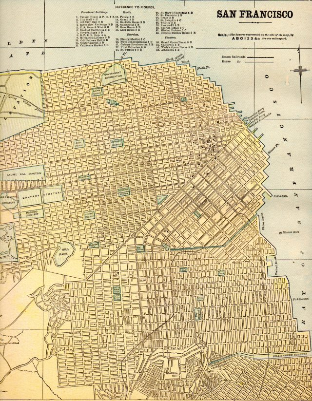 Map of San Francisco, 1930