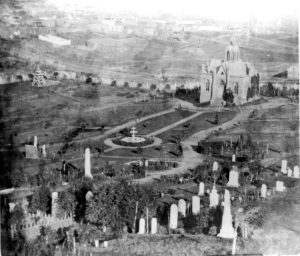 The Jewish cemeteries in  what is now Dolores Park, San Francisco