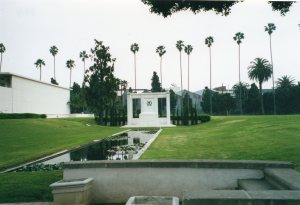 Douglas Fairbanks' monument, Hollywood Forever. Photo by Loren Rhoads.